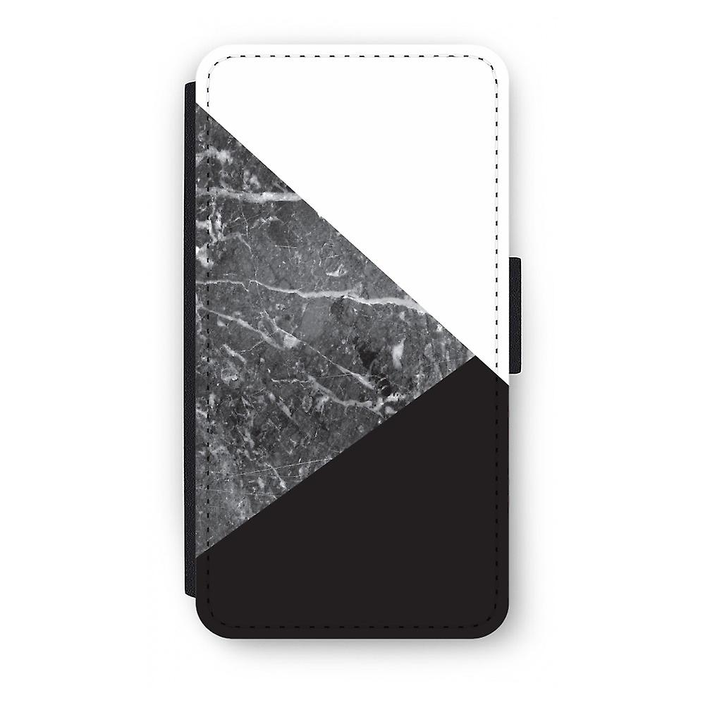 iPhone X Flip Case - Marmor-Kombination
