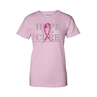 Juniors Hope for the Cure Support Breast Cancer Awareness T-shirt