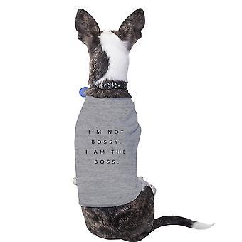 أنا ملابس الكلاب الصغيرة الرمادية الحيوانات الأليفة قميص القطن بوس