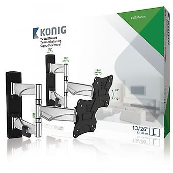 König TV wall mount fully adjustable 13-26 ' 30 kg Silver/Black