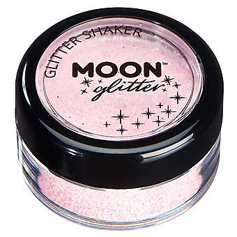 Pastel Glitter Shakers by Moon Glitter – 100% Cosmetic Glitter for Face, Body, Nails, Hair and Lips - 3g - Baby Pink