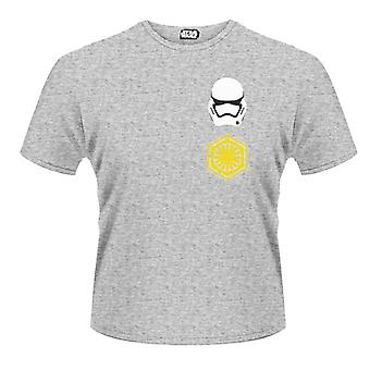 Star Wars- Logo Stormtrooper Pattern Rear T-Shirt