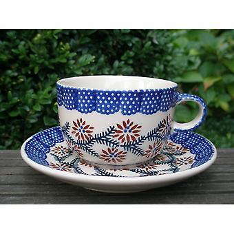 Cup med tallerken - keramisk servise - tradisjonelle 81 - te og kaffe - BSN 62412