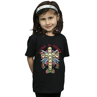 Gewehren N Rosen Mädchen Skull Cross T-Shirt