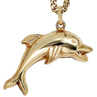 Dolphin pendant gold pendant Dolphin 333 gold yellow gold