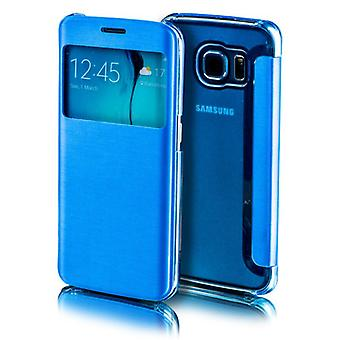 For Apple iPhone 7 4.7 smart cover window light blue bag sleeve case pouch protection new