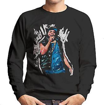 Sidney Maurer Original Portrait Of Jay Z Gilet Men's Sweatshirt