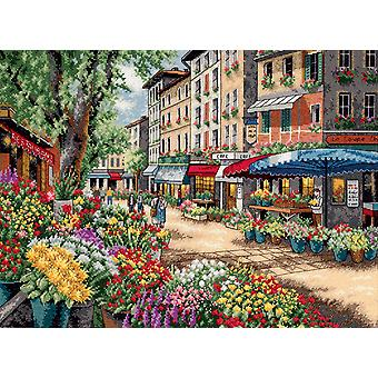 Gold Collection Paris Market Counted Cross Stitch Kit-15
