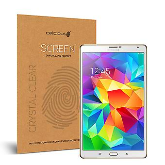 Celicious Vivid Invisible Glossy HD Screen Protector Film Compatible with Samsung Galaxy Tab S 8.4 [Pack of 2]