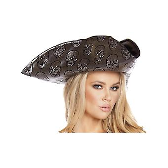 Roma RM-H4566 Womens Skull Embroidered Pirate Hat