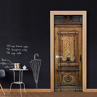 Photo wallpaper on the door - Medieval Entrance