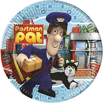 Post Pat Party Teller Postbote Briefträger Pat Ø ca 23 cm Kindergeburtstag 8 Stück