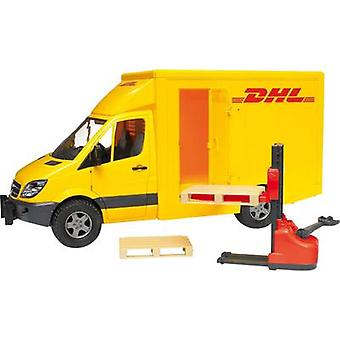Brother Mercedes Benz Sprinter DHL with hand pallet truck and 2 pallets