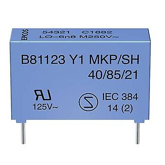 TDK B81123C1222M Y1 suppression condensateur Radial lead 2.2 nF 250 V AC 1 pc(s)