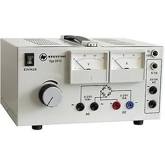 Statron 5312.1 banc de bloc d'alimentation (tension réglable) 0 - 25 V AC 10 A 530 W no. des sorties 3 x