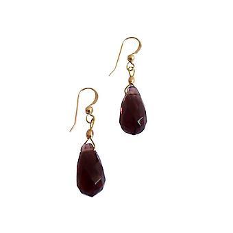 Boucles d'oreilles Gemshine Women's Gilded Amethyst Drop Faceted Purple