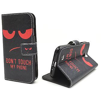 لا تلمس الحقيبة حالة الهاتف المحمول موبايل سامسونج غالاكسي S4 الأحمر