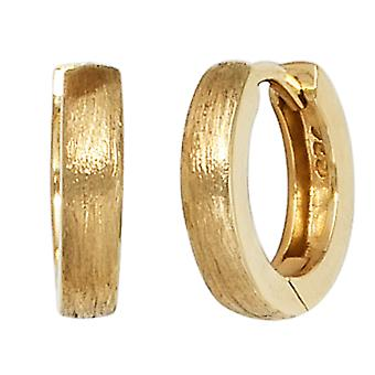 Creolen Ohrhänger 925 Sterling Silber vergoldet eismatt Ohrringe silber