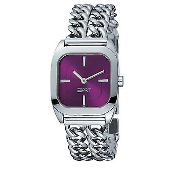 Elegant Esprit Ladies Watch Purple Silver Jewellery Quality Price UK Seller + Warranty