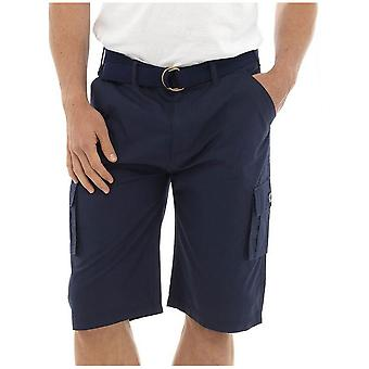 Tom Franks Plain Summer Beach Pool Swimming Cargo Knee Length Shorts With Belt