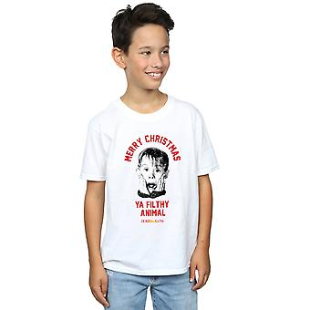 Home Alone Boys Merry Christmas T-Shirt