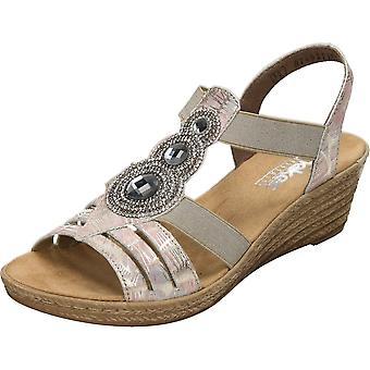 Rieker Wedge Heel Slingback Elasticated Sandals 62459-92