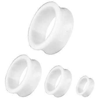 Ear Flesh Tunnel Piercing, Body Jewellery, White | 3 - 30 mm
