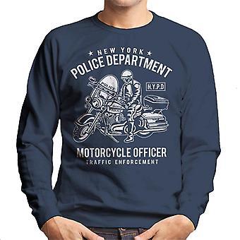 New York Police Department motorsykkel offiser menns Sweatshirt