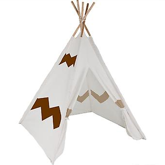 Modern Home Kinder Canvas Tipi Set mit Reise-Etui - Navajo Brown