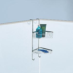 Gedy Double Corner Hanging Shower Basket Chrome 5685 13