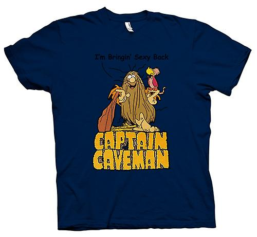 Mens T-shirt - Captain Caveman - grappige Cartoon - brengen Sexy