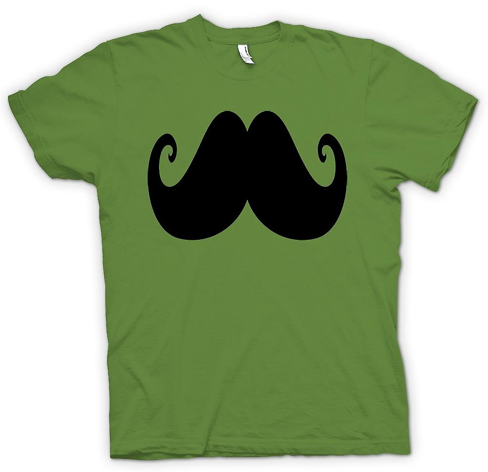 Mens T-shirt - Moustache On A Shirt - Funny Facial Hair