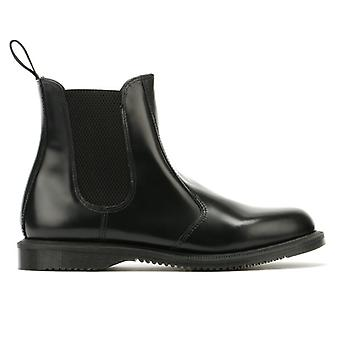 Dr. Martens Flora Womens Smooth Black Leather Boots