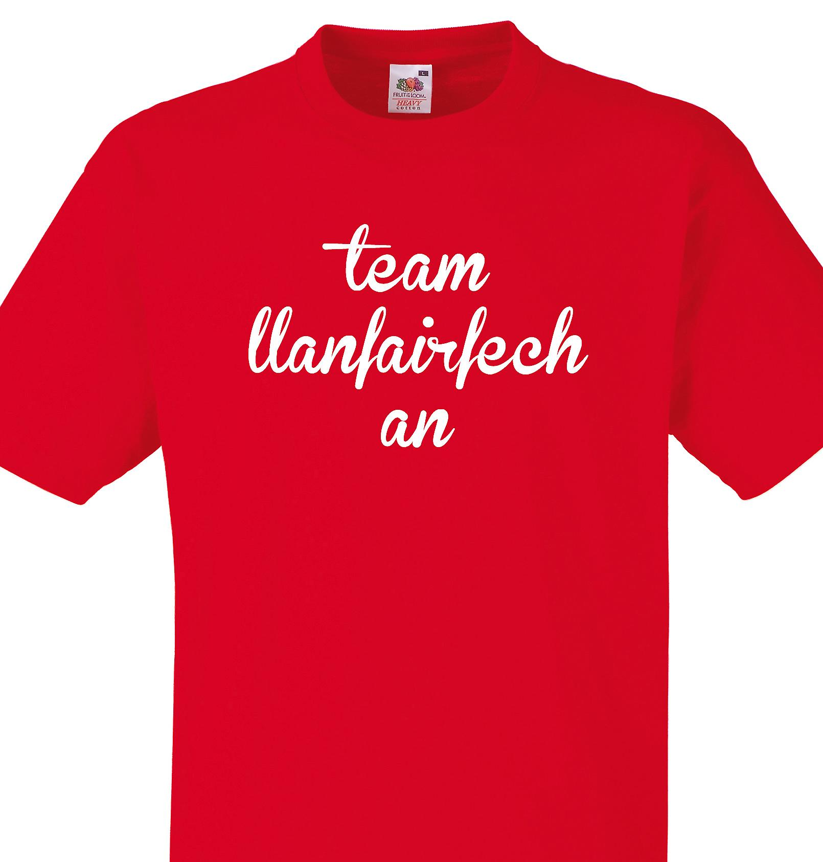 Team Llanfairfechan Red T shirt