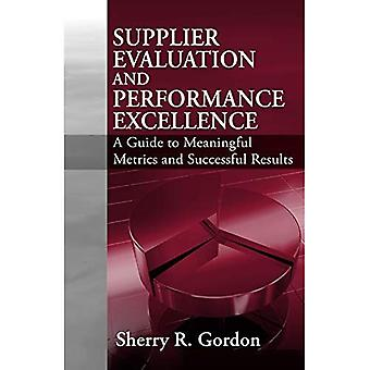 Supplier Evaluation and Performance Excellence