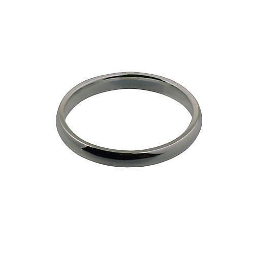 Platinum 3mm plain Court shaped Wedding Ring