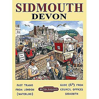Sidmouth, Devon, Small Metal Sign 200mm x 150mm (og)