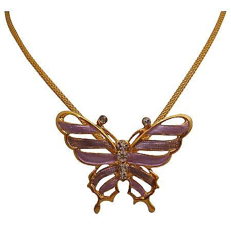 Trendy Stylish Butterfly Pendant Necklace