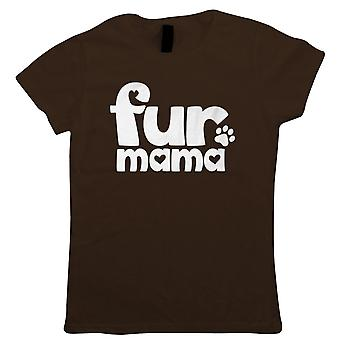 Fur Mama, Womens Funny T Shirt | Dog Cat Hamster Funny Novelty Perfect Gift Present For Mum Mom Mama Ladies | Mothers Day Birthday Christmas from Daughter Son Grandson