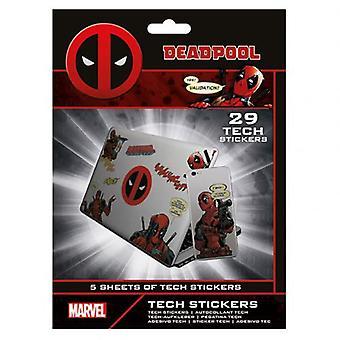 Deadpool Tech Stickers