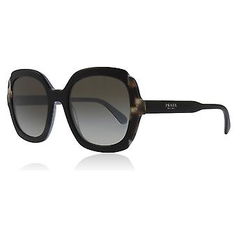 Prada PR16US KHR0A7 Black / Azure / Brown PR16US Square Sunglasses Lens Category 2 Size 54mm