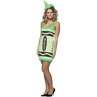 Green Pencil Crayola Women Costume