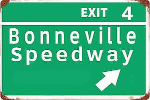 Bonneville Speedway rusted metal sign  (pst 1812)