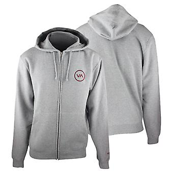 RVCA Mens VA Sport Diameter Zip Up Hoodie - Gray - surf skate mma bjj