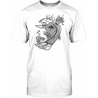 Koi-Karpfen Design - Herren-T-Shirt