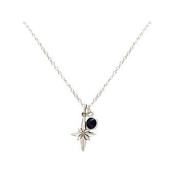 Maritim necklace Nordstern Polarstern 925 silver, gold plated or rose - sapphire