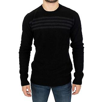 Costume National Black Striped Crewneck Sweater -- SIG1242885