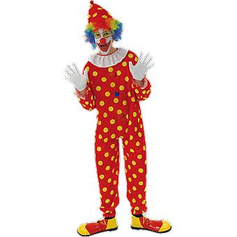 Orion Costumes Mens Red Polka Dot Clown Circus Carnival Fancy Dress