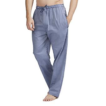 British Boxers Minster Silver Blue Men's Pyjama Trousers