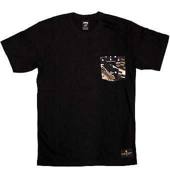 Oplichters & kastelen Timepiece Pocket T-Shirt zwart
